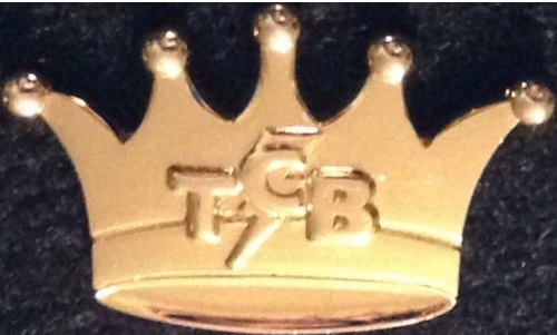 STAFF Elvis TCB Bolt Gold Crown PIN OLD VERSION Takin Care of Biz