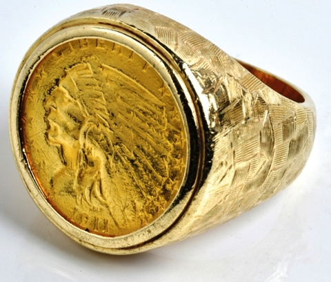 Elvis -- 1911 Indian Head Gold Ring