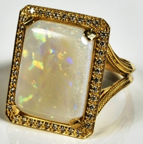 Elvis -- Diamond and Opal Ring