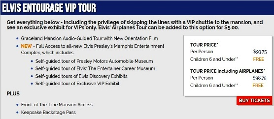 Elvis Entourage VIP Tour