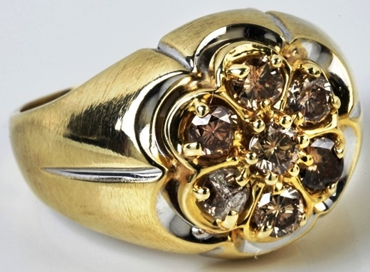 Elvis -- Gold and Diamond Cocktail Ring