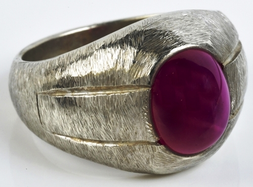 Elvis -- Gold and Red Star Sapphire Ring