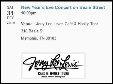 Jerry Lee Lewis New Years Eve 2016