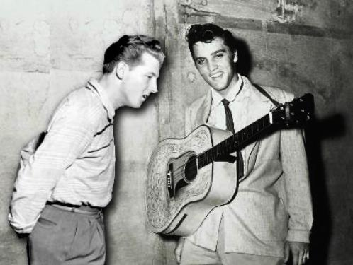 Jerry Lee Lewis and Elvis Presley