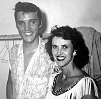 Wanda Jackson Smiling and Elvis