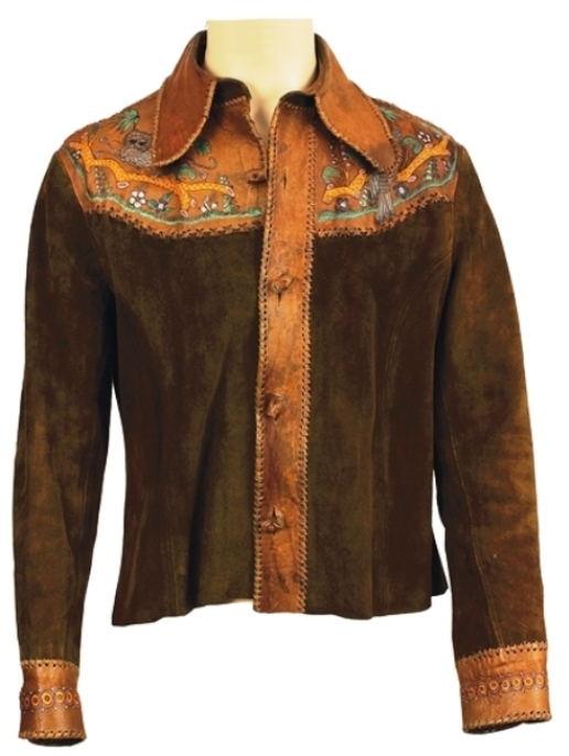 Elvis Presley's Painted Leather & Suede Jacket