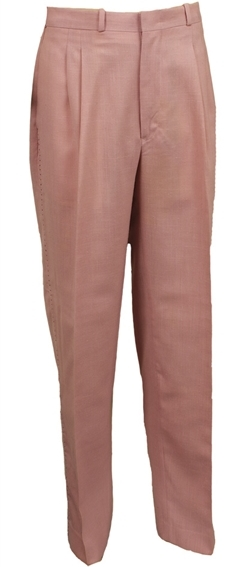Elvis Presley's Pink Stage Pants With Black Saddle Stitching
