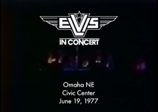Start of CBS Special Elvis in Concert.