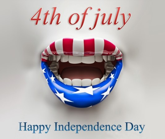 4th of July-Patriotic Mouth