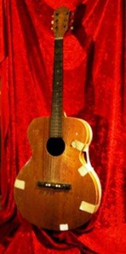 Color Picture of Elvis' First Guitar