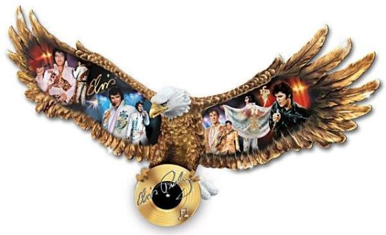 Eagle pin with Elvis Images
