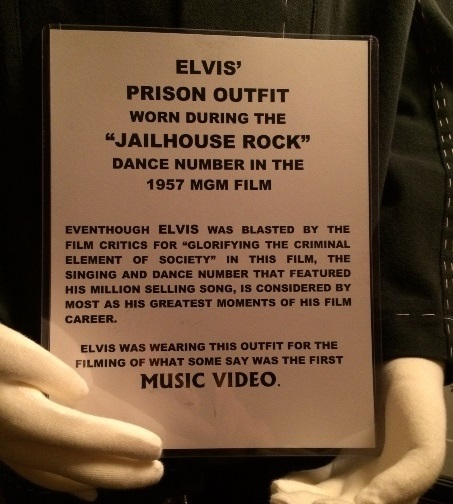 Elvis Presley Jailhouse Rock Dance Outfit Placard