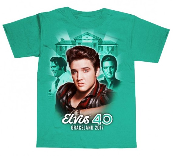 Elvis Presley T-shirt 40th Anniversary Graceland Collage