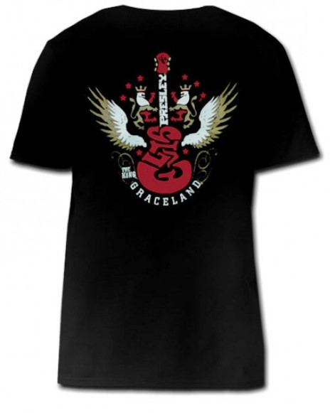 Elvis Presley T-shirt The King Guitar Wings