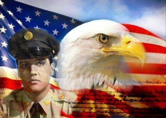 Elvis and Bald Eagle 4th of July