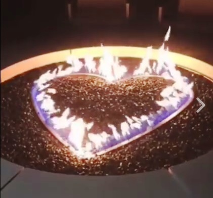 Heart-Shaped Fireplace at Graceland Guest House