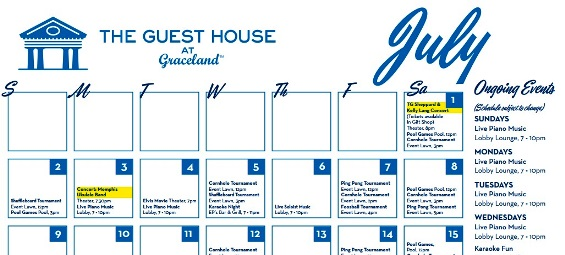 Ongoing Events at Graceland Guest House