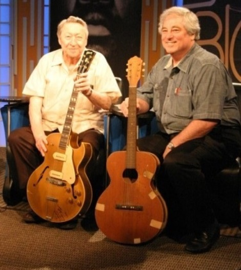 Scotty and Larry Moss with Guitars