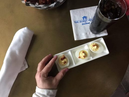 The deviled egg appetizer at EP's Bar & Grill