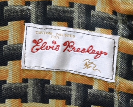 Custom Made for Elvis Presley Label on Suede and Fur-trimmed Jacket - Copy