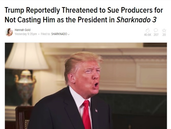 Donald Trump Wanted to Play the President in Sharknado 3