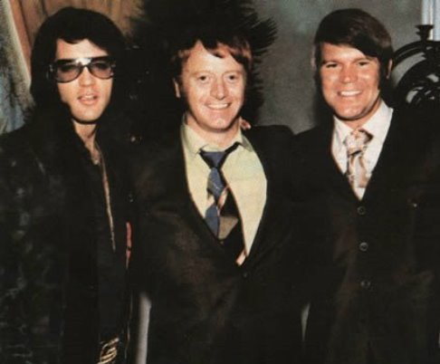 Elvis Presley, Red West, Glen Campbell at George Klein's wedding, 1970