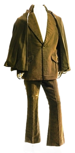 Elvis Presley's Brown Velvet Jacket, Pants and Cape Ensemble