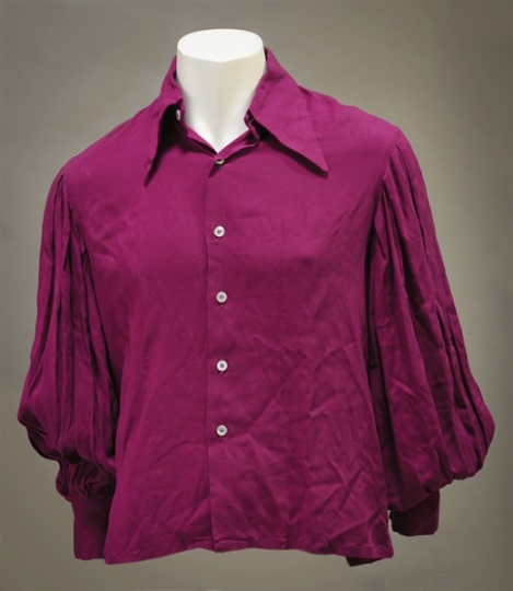 Elvis Presley's Electric Purple Button-Down Shirt