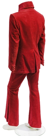 "Elvis Presley's Red ""Elephant Corduroy"" Suit - Back"