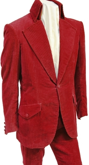 "Elvis Presley's Red ""Elephant Corduroy"" Suit"