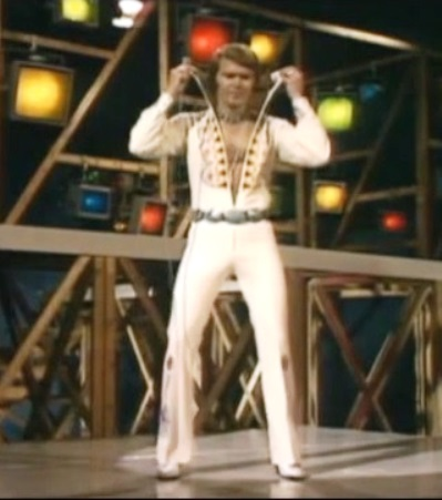 Glen Campbell Wearing Elvis Jumpsuit - 1975