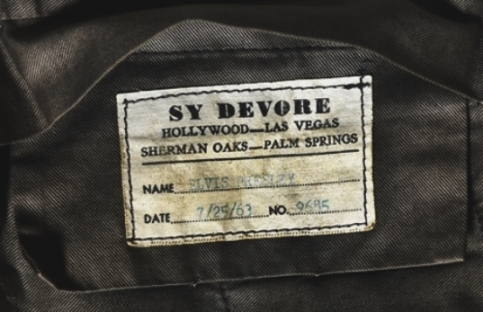 Label on Elvis Presley's Viva Las Vegas Pants
