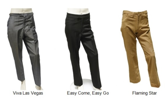 Three pair of Elvis Presley's Movie Pants