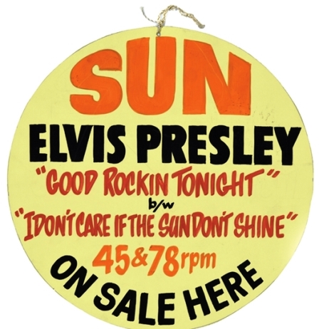 1954 Elvis Presley Ceiling Hanger Advertisement