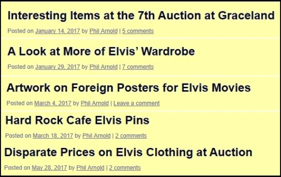 2017 Elvis Auctions