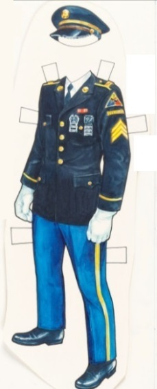 Elvis' Army Dress Uniform Paper Doll
