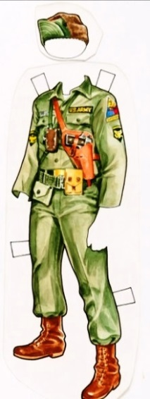 Elvis' Army Field Uniform Paper Doll