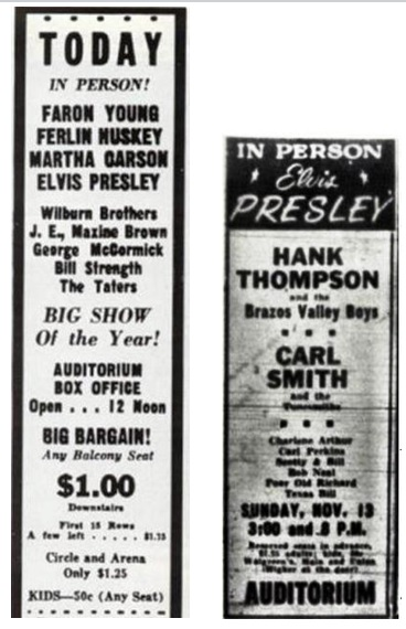 Elvis' Concerts at Ellis Auditorium 1955