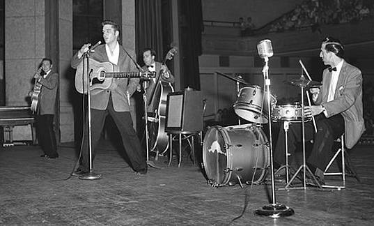 Elvis Performing at Ellis Auditorium