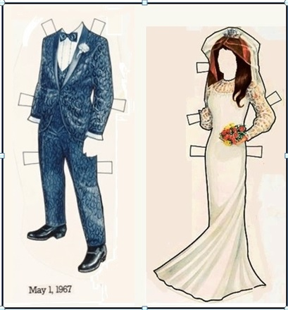 Elvis and Priscilla Paper Doll Outfits