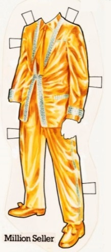 Elvis' Gold Lame Suit Paper Doll