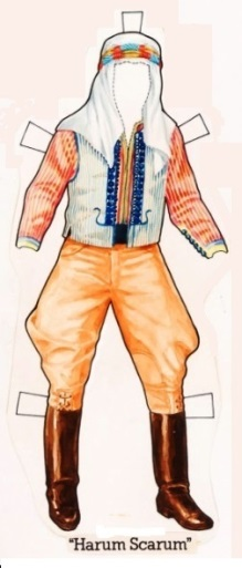 Elvis' Harum Scarum Paper Doll