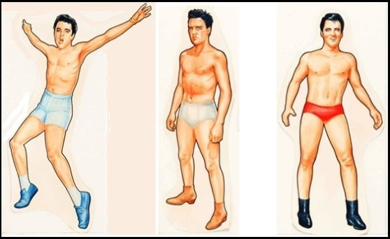 Three Elvis Presley Bodies for Paper Dolls