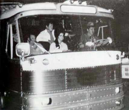 Elvis Driving His Bus