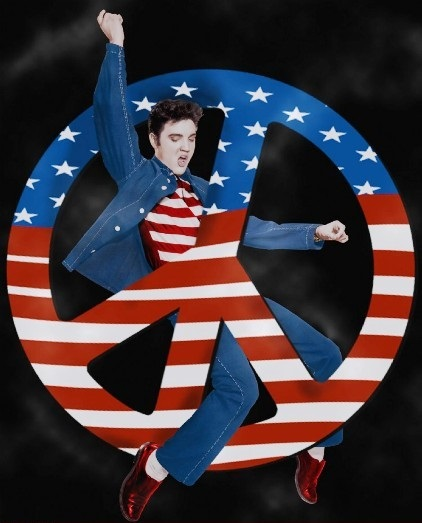 Elvis Peace Sign