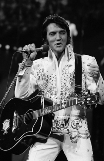 Elvis Talking on Stage