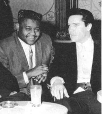 Fats Domino and Elvis Presley at Table