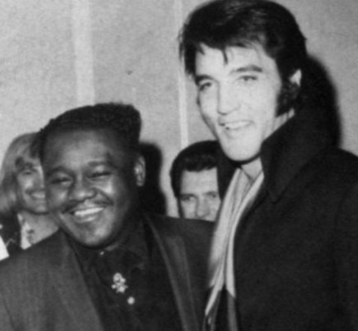 Fats Domino and Elvis Presley