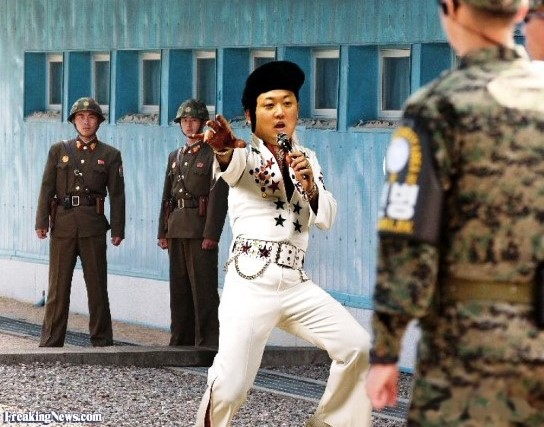Kim Jong Un as Elvis Presley