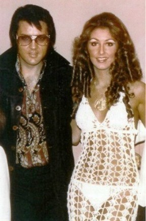 Elvis with Linda Thompson in See-Through Dress